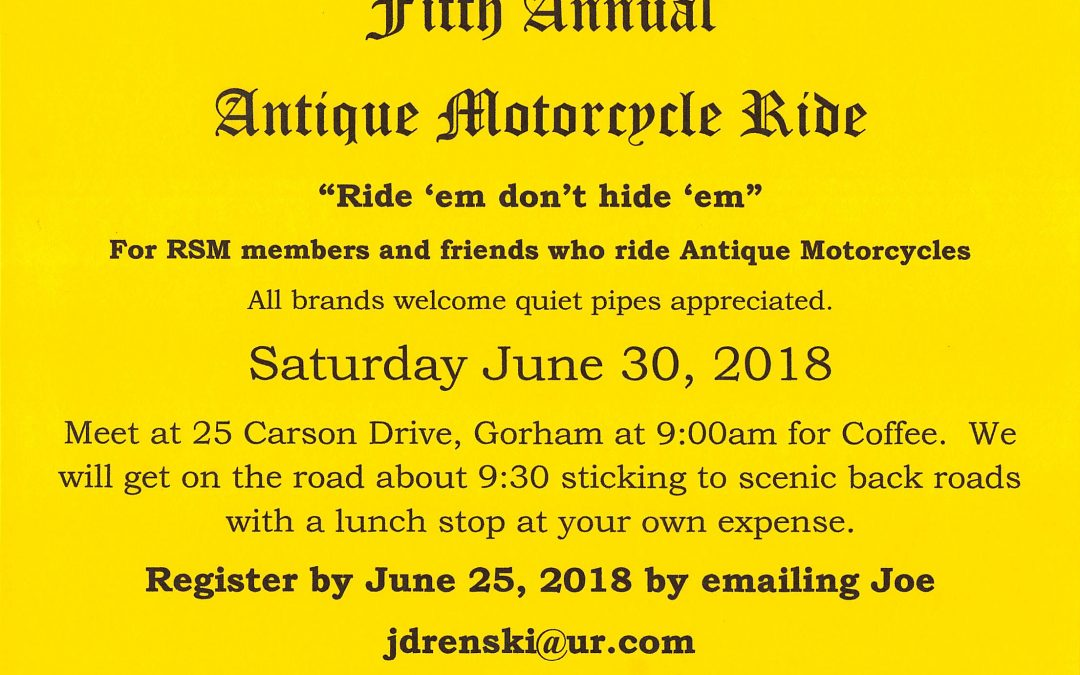 Antique Motorcycle Ride