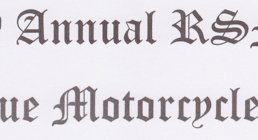 2020 7th Annual Antique Motorcycles Ride
