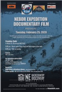 NEBDR Expedition Documentary Film Premiere Flyer